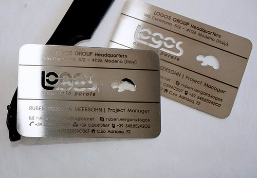 metal steel business cards laser cutting/engraving by pinkard.si