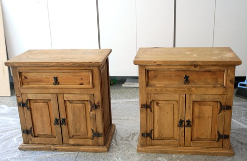 Superbe Nightstands Before They Were Painted.