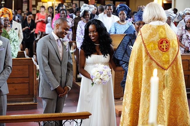 Lekan and Grace meet at the Altar