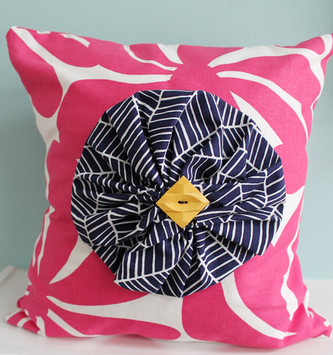 pink flower pillow 6