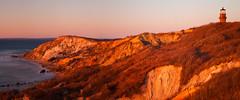 Sunset Warmth on Aquinnah Cliffs (chris lazzery) Tags: longexposure sunset lighthouse massachusetts marthasvineyard aquinnah gayhead canonef24105mmf4l 5dmarkii bw30nd
