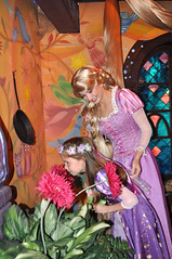 Rapunzels stop to smell the flowers (Angelasews) Tags: flowers disneyland disney rapunzel tangled