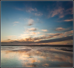 Wispy sky, Crosby (Ianmoran1970) Tags: blue sunset cloud reflection beach wet sand wispy crosby ianmoran ianmoran1970