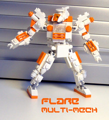 Flare Multi-Mech (OrangeKNight) Tags: lego flare gundam multi mecha mech thk