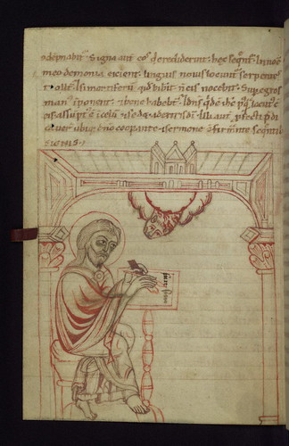 Illuminated Manuscript, Gospels of Abbot Duden, Evangelist portrait of Luke, Walters Art Museum W.5, fol.59v by Walters Art Museum Illuminated Manuscripts