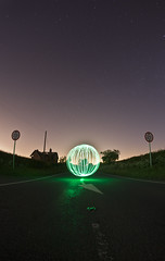 Let there be light! ([Nocturne]) Tags: road longexposure nightphotography lightpainting abandoned stars cheshire orb stupid nocturne starry startrails noctography wwwnoctographycouk