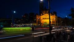 Flinders Slow Shutter (@kemalcaesar) Tags: canon lights cityscape slow australia melbourne tokina slowshutter 5d flinders manfrotto 5dclassic 5dmk1 5dmark1 tokina1628