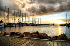 crazy weather (Neal J.Wilson) Tags: dawn sunrise harbours yacht boats denmark jutland jylland nordic scandinavia horsens sailing weather clouds dramatic