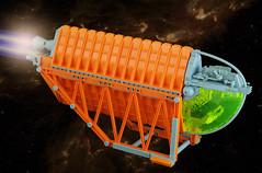 Altura 2nd (01) (F@bz) Tags: lego moc sf starfighter spaceship brickseparator orange space scifi