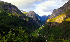 In the heart of Norwegian fjords (mark.paradox) Tags: norway stalheim mountain road fjords lookout hill view landscape travel light beauty outdoor scenery