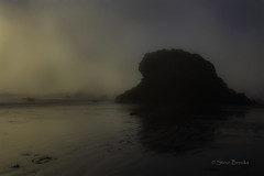 Sea Stack in Fog (smbrooks_2000) Tags: cambria california seastack water fog sunset ocean pacific