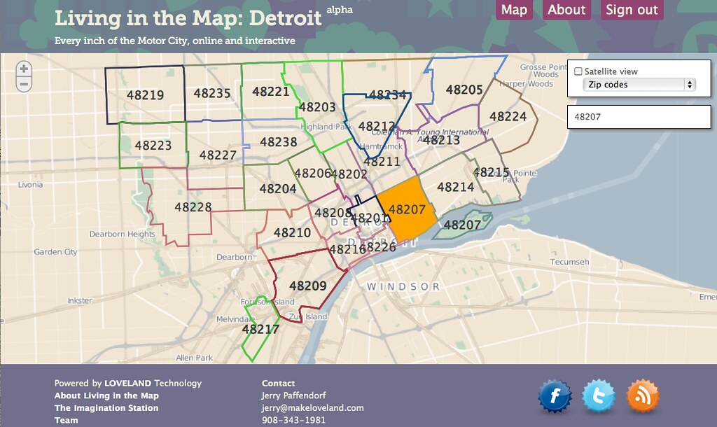 City Of Detroit Zip Code Map | Zip Code MAP