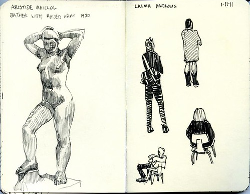 sketches at the LA County Museum of Art