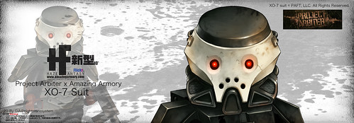 Custom minifig Project Arbiter x Amazing Armory XO-7 Suit