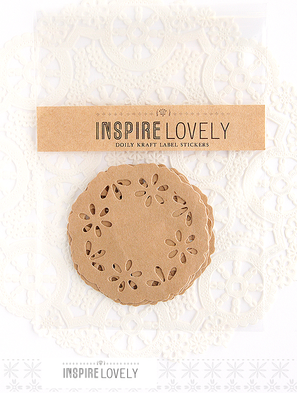 new kraft doily stickers