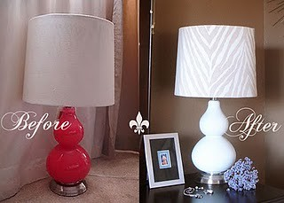 Lamp Makeover: Zebra
