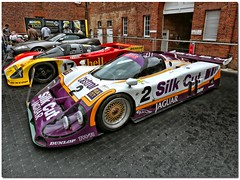 1988 Silk Cut TWR Jaguar XJR-9 LM And Shell Porsche 962C Group C Sportscars.  Goodwood Festival Of Speed 2008 (Antsphoto) Tags: car sussex classiccar purple britain 1988 historic jaguar silkcut fos lemans hdr motorracing goodwood carshow motorsport sportscars topaz twr goodwoodfestivalofspeed groupc goodwoodhouse porsche962c tomwalkinshaw antsphoto topazadjust twrjaguarxjr9 anthonyfosh worldmachineshdr