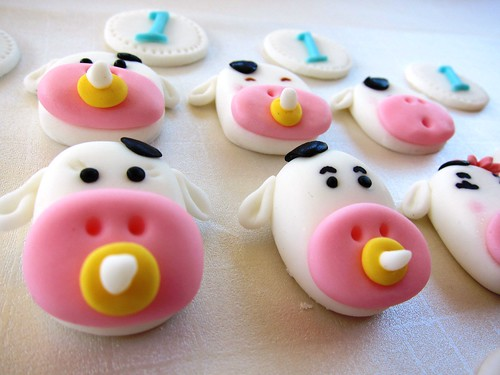 Baby Cow Cupcakes Topper