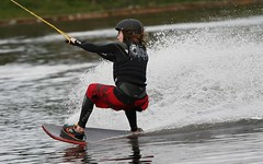 Wakeskating at the Welsh Wakeboard Open, Glasfryn Park, November 2010 (bobaliciouslondon) Tags: uk water wales jump rail cable wakeboard wakeboarding alliance 2010 kicker sensation glasfryn wakeboarders glasfrynparc sesitecsystem20 welshwakeboardopen glasfrynwakeparc relentlessleviathan cableriders