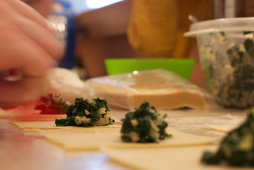 dumplings in progress