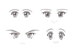 Homemade Decal Eyes 3 (RubyconCream) Tags: anime cute fun sketch eyes doll manga kawaii bjd decal custom dollfie customize azone obitsu