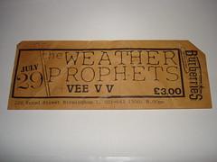 "Weather Prophets ticket July 1987 <a style=""margin-left:10px; font-size:0.8em;"" href=""http://www.flickr.com/photos/58583419@N08/5401231282/"" target=""_blank"">@flickr</a>"
