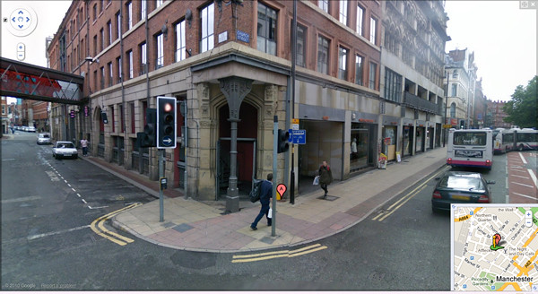 Manchester skateboard shop.