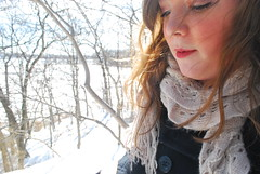 (spellydot) Tags: red snow nature girl lipstick marshlands