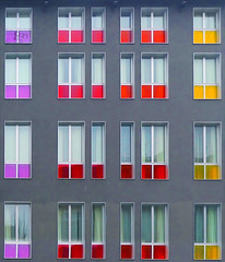 Finestre colorate / Colored windows (Fil.ippo) Tags: windows abstract color colors lens colorful colore geometry colored astratto mondrian filippo geometria finestre correction colorate colorato d5000 sottoilcielodimilano