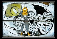 X M 24 #1 (Skreamiz) Tags: streetart muro art colors wall blu spray bologna graffito murales centrosociale livello57 biancoeneroparziale partialblackendwhite