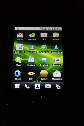 Apps on an Android cellphone