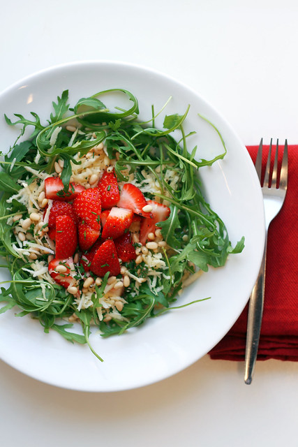 Strawberries, Parsnip and Rocket