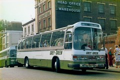 Grey Green Coaches Ltd Duple Dominant II Bedford YMT RYL719R (LVA45) Tags: park bridge green london bedford grey george office head country group royal july class warehouse ii 1977 ltd bishop rp coaches sons ewer dominant reliance aec eccleston ymt duple c49f ryl719r