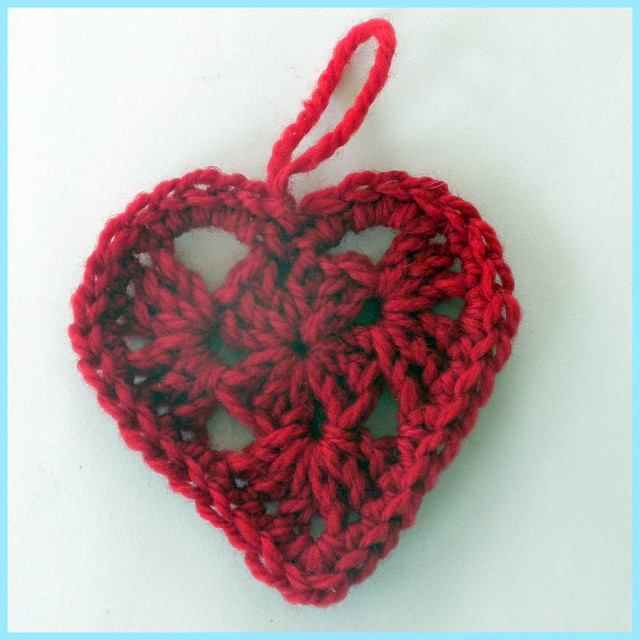Crochet Granny Square Heart, with border