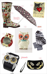 Valentine's day gift guide (MyOwlBarn) Tags: scarf umbrella boots wallet watch brooch owl valentinesday giftguide