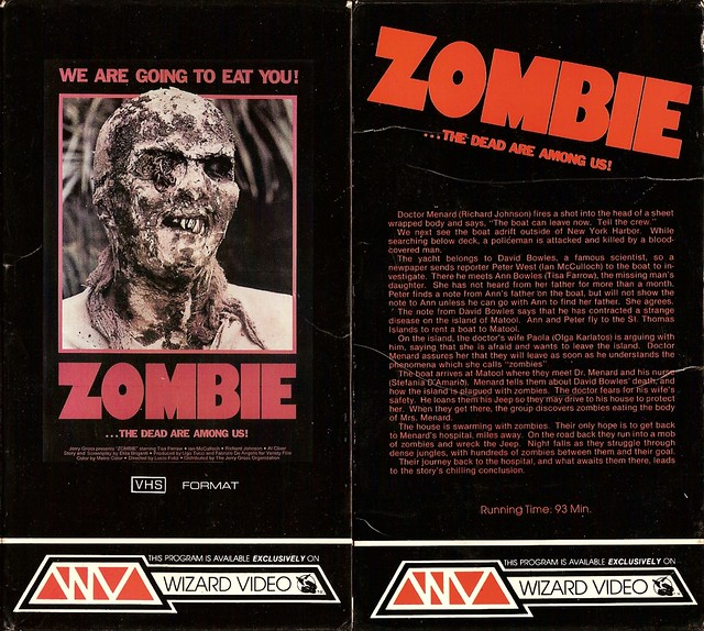 Zombie (VHS Box Art)