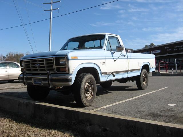 blue 2 two white ford truck nc 1982 north pickup carolina 1986 tone xlt f250 ncnick