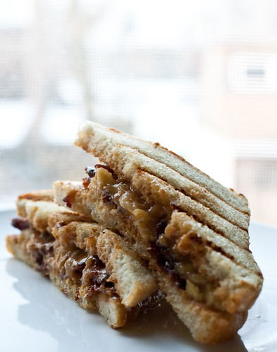 Peanut Butter, Banana & Bacon Sandwich