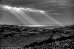 Light in the storm! (TDR Photographic) Tags: uk light england sky clouds canon landscape coast atmosphere dorset contrejour purbeck sunbeams creech jurassiccoast eos5d worbarrowbay