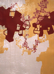 Cut Outgrowth (RebeccaEileringArtist) Tags: 2005 travel architecture out cut maps growth ducttape cutpaper environment gridpaper
