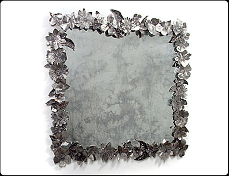 Fresh Cut Flowers Steel Mirror