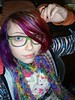 taking photos at work... (Megan is me...) Tags: blue red portrait orange color green colors smile fashion rose yellow self hair effects photography one diy clothing crazy rainbow eyes colorful neon pretty colours russell bright unique awesome meg violet plum megan style nuclear special clothes kind fishbowl iguana jerome colored mayhem punky striped bleached dyed napalm sfx rosered megface meganisme bleachednapalmorange