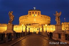 Rome - Castel SantAngelo at dusk (Rolandito.) Tags