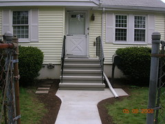 steps with rails and walkway