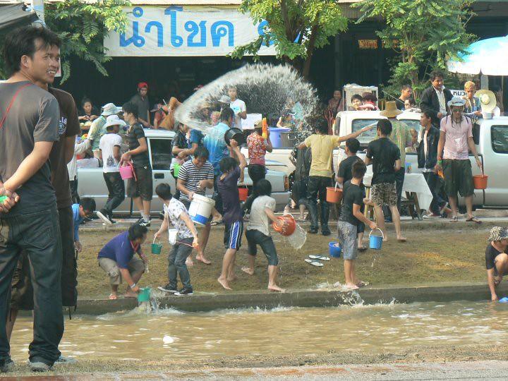 Thai New Year in North Western Thailand
