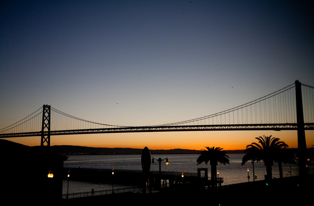 ivoryhut San Francisco Bay Bridge sunrise