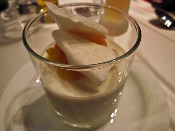 Yogurt pannacotta, citrus, crispy vanilla