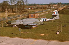 RAF Watton Meteor gate guard, 1975 (NAH1952) Tags: aircraft meteor raf watton glostermeteor gateguard rafwatton