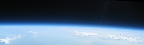 Earth's Curvature at 29,394 metres