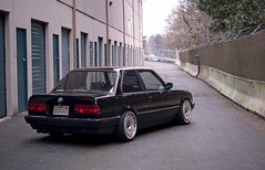 wikimpul (Stephen Sayer) Tags: black silhouette early wide bmw schwarz eta e30 impul stance scrape effin m20 r3v fitment scwarz r3vlimited stanceworks